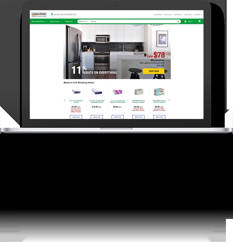 Menards.com Redesign