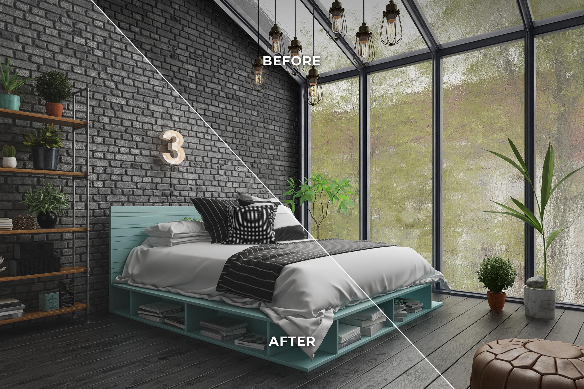 Photo Retouching Bedroom